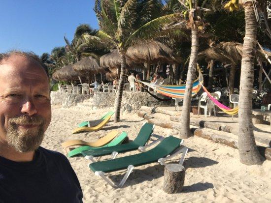 Brand-new Seating at Half Moon Bay beach at La Buena Vida, Akumal, Mexico  HP07