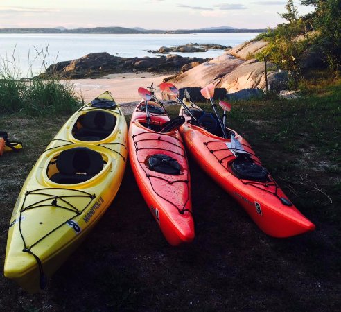 Port Clyde, ME: kayaks