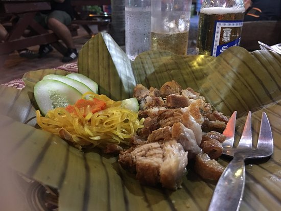 Davao City, Philippines: Lechon Kawali-- not very crispy, and the serving size is very small.