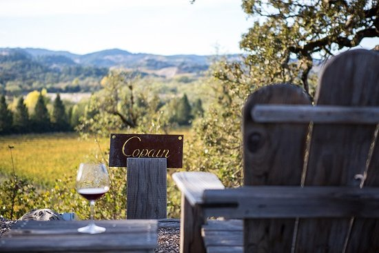 Healdsburg, CA: Copain Adirondack View from our Hilltop Tasting Room