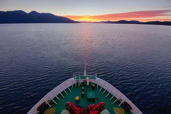 Navimag: Sailing towards a gorgeous sunset