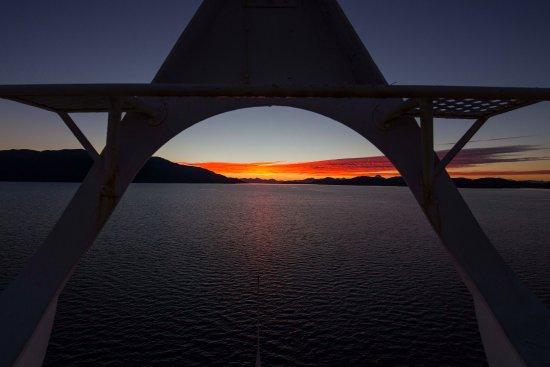 Navimag: Another beautiful sunset!