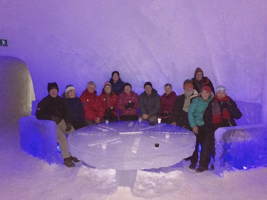 Arctic SnowHotel & Glass Igloos: Everything including the glasses are made of ice