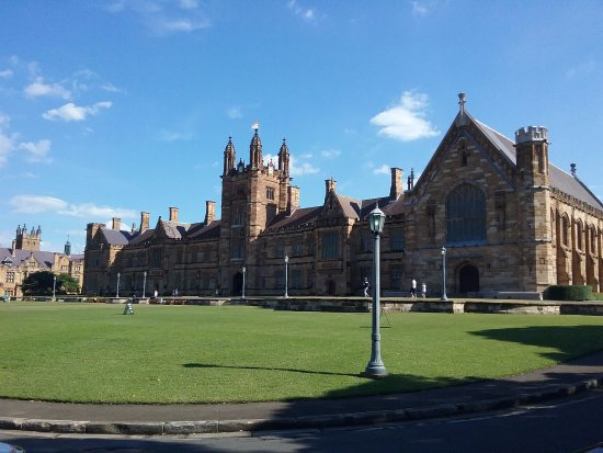 University of Sydney: View from outside the Quadrangle.