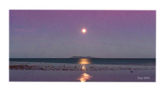 Waihi Beach, New Zealand: Mayor Island in Moonlight - Mike Hill