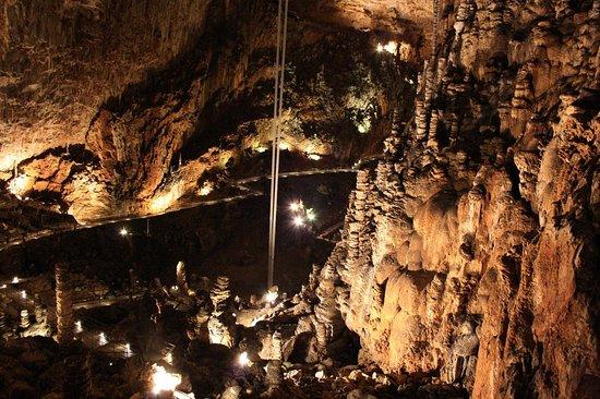 grotta gigante da dentro (ci potrebbe proprio stare un gigante!)