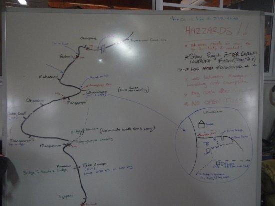 Taumarunui, New Zealand: 詳細な川の説明ボード