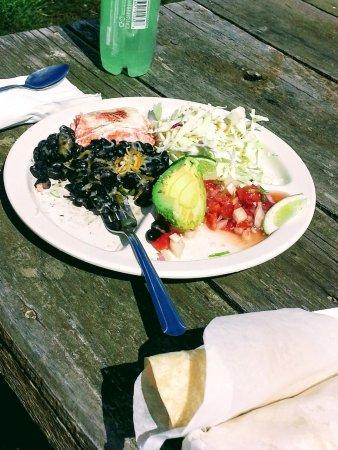 Lummi Island, WA: Salmon Fist Tacos special