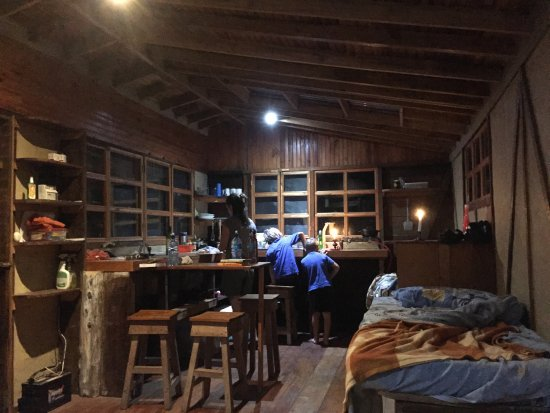 Chirripo National Park, Costa Rica: Inside the Gavilan Cabin at night