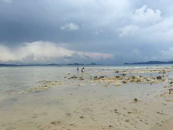 Kantang, Thailand: ทะเลด้านหน้าช่วงเย็นนำกำลังลง
