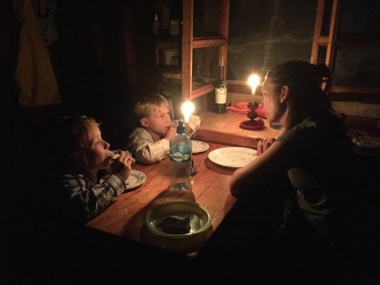 Chirripo National Park, Costa Rica: candlelight dinner at Gavilan Cabin