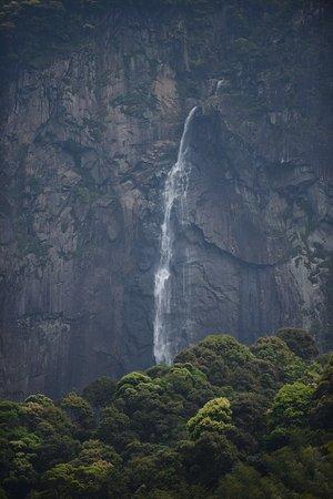 Dehua County, Kina: waterfall view from afar