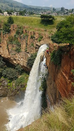 Waterval Boven, South Africa: abseiling from the distance