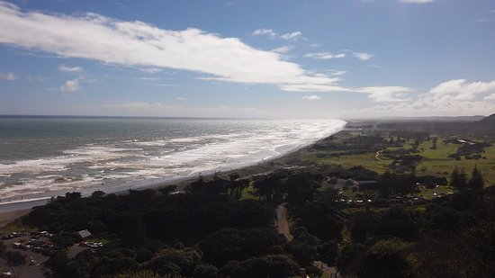 Muriwai Beach, Nueva Zelanda: The view from the view point