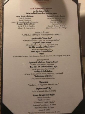 Italian Restaurant Menu  Picture Of Grand Bahia Principe Jamaica