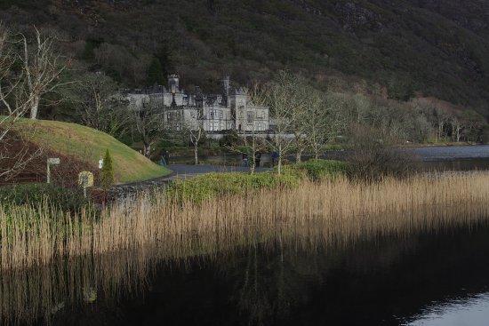 Kylemore Abbey across the lake