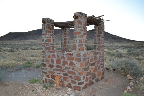 Maltahohe, Namibie : Outdoor toilet with a view