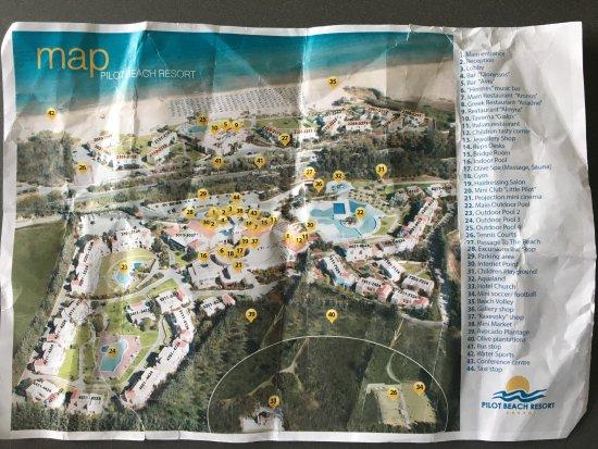 Pilot Beach Resort: Plan der Hotelanlage