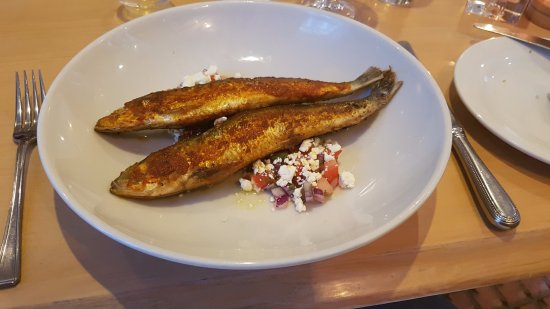 Three Compasses: Harissa Sardines, delicious and generous portion