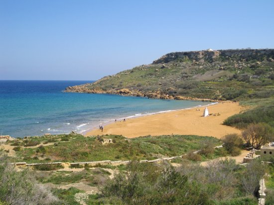 Xaghra, Malta: Ramla from the cliffs