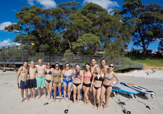 Jervis Bay Stand Up Paddle: Happy birthday Lindsey, lovely way to spend your day.. Paddleboarding with mates.