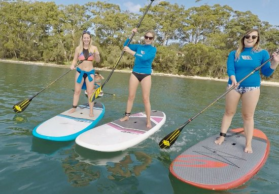 Huskisson, Australia: Happy Paddlers with Jervis Bay Stand Up Paddle