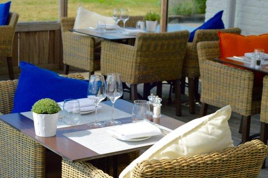 Terneuzen, هولندا: eten op het terras van restaurant la vie terneuzen