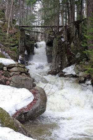 Dixville Flume or also known as Baby Flume Waterfalls - April 2017