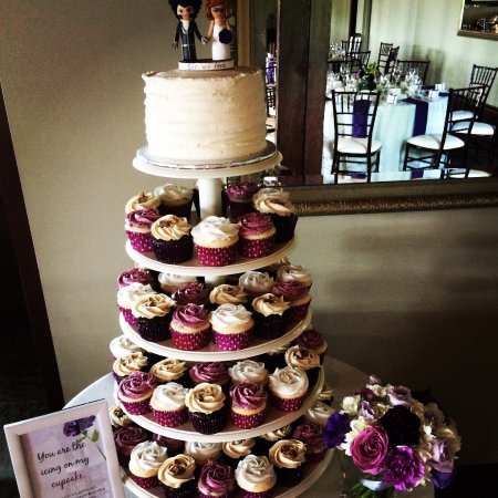 Wedding cupcakes and cake tower we prepared for cutten fields sweet temptations cupcakery wedding cupcakes and cake tower we prepared for cutten fields junglespirit Images