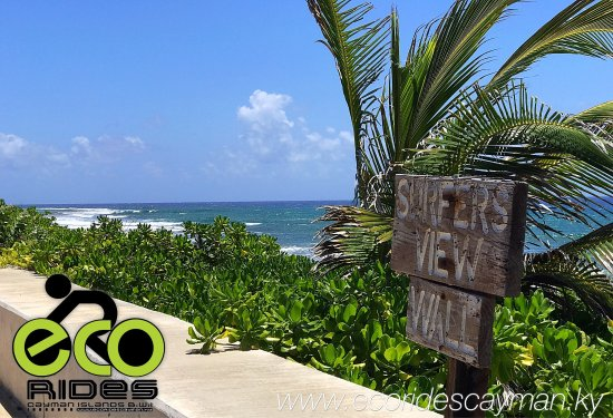 Surfers view East End. See more with ECO Rides Cayman.