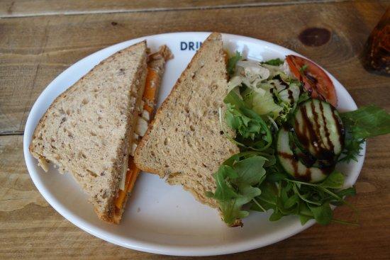 Ramsbottom, UK: Three cheese sandwich