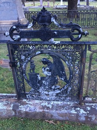 Madison, GA: Iron work in cemetery