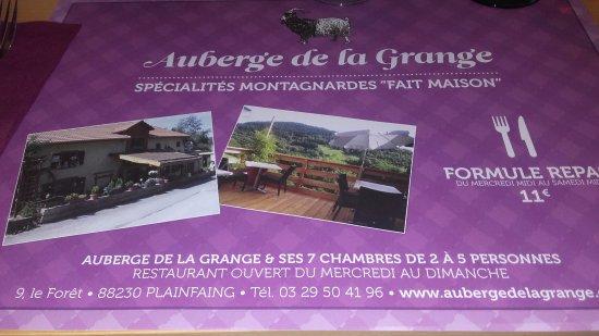 Auberge de la grange b b plainfaing france voir les - Auberge des collines granges les beaumont ...