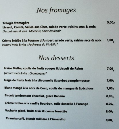 Margon, ฝรั่งเศส: Carte d'été 2017