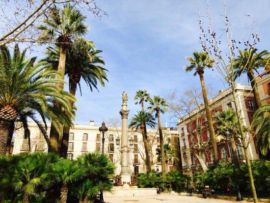 Quiet Square off Las Ramblas - Review of Placa Reial