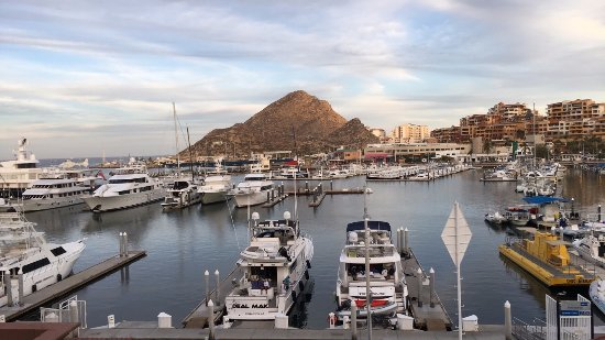 Tesoro Los Cabos: View of the Marina from the sky pool lounging area.