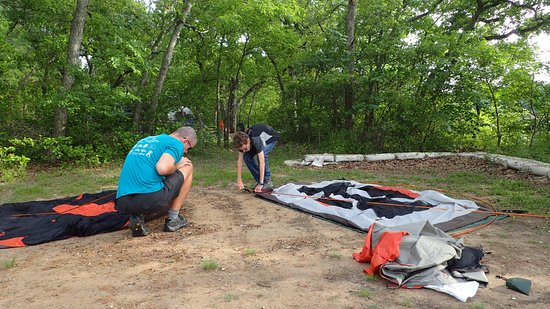 Denison, Teksas: Plenty of space for two small tents
