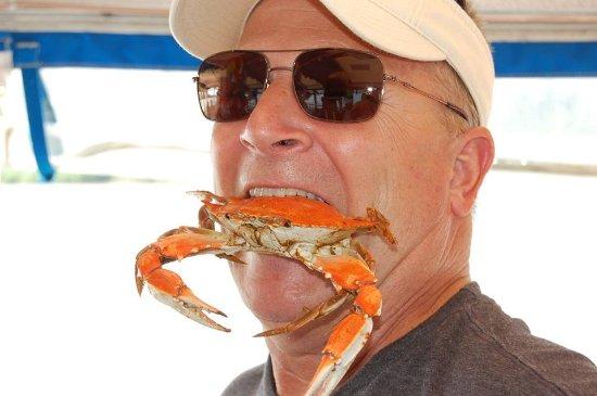 Chesapeake City, MD: Capt Brad Heil testing his comedy skills