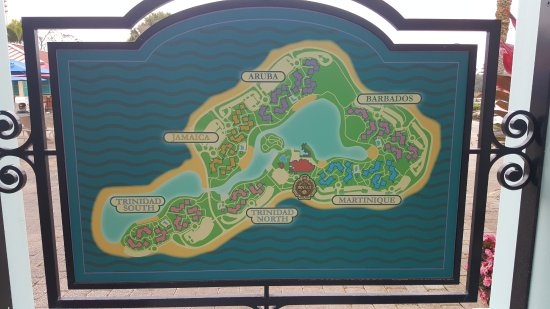 Resort Map - Picture of Disney\'s Caribbean Beach Resort, Orlando ...
