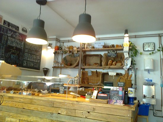 The shop counter of BakeHouse24, Ringwood, Hampshire