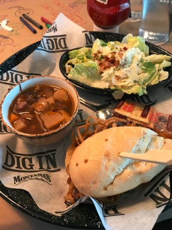 Tsawwassen, Canadá: Lunch Trio - Slow Roasted Beef Sandwich, Caesar Salad and Pot Roast Soup