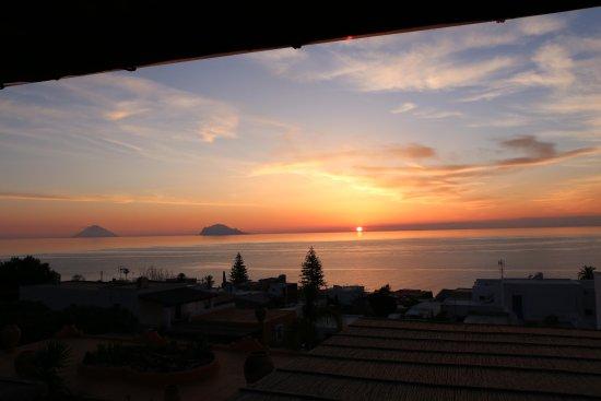 Santa Marina Salina, Italy: View from the terrasse at sunrise