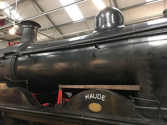 Bo'ness, UK: The lovely Maude inside the museum