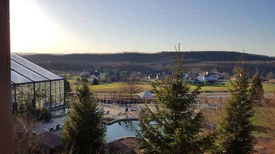 Hamburg, NJ: View from room at Grand Cascades Lodge