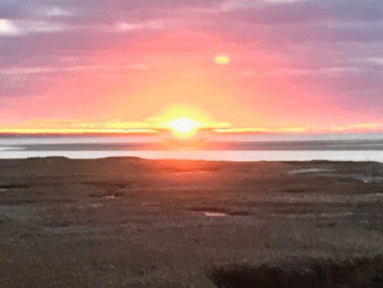 Yarmouth Port, MA: Sunset at boardwalk