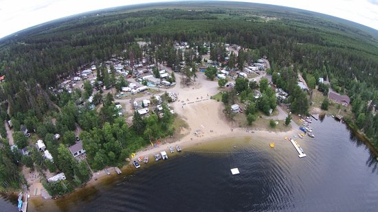 Iroquois Falls, Canada: Aerial view of Campground