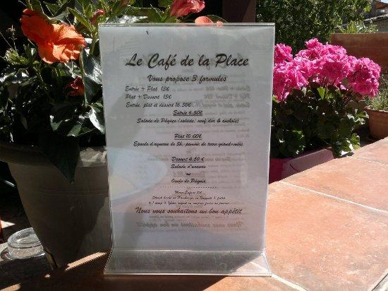 Reillanne, Francia: Le menu du jour : complet à 16,50 €