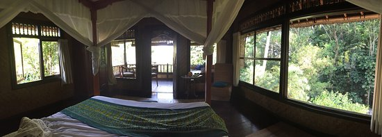 Alam Indah : View from the bed of the Rambutan Suite