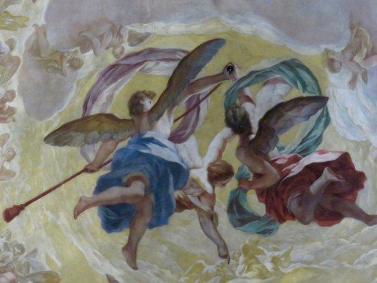 Basilica de la Virgen de los Desamparados: Teto da basílica - pormenor
