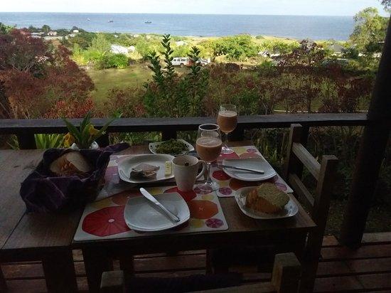 Cabanas Mana Ora : Desayuno en Manaora